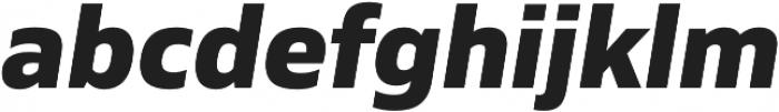 Siro ExtraBold Italic otf (700) Font LOWERCASE