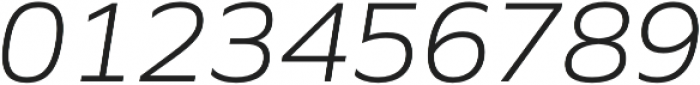 Siro Light Italic otf (300) Font OTHER CHARS