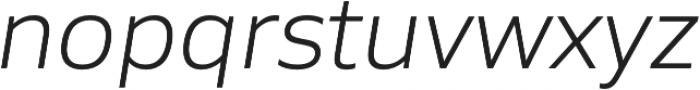 Siro Light Italic otf (300) Font LOWERCASE