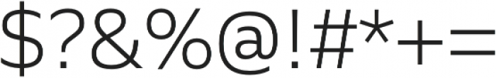 Siro Light otf (300) Font OTHER CHARS