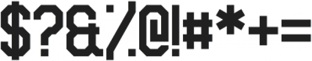Sitdown otf (400) Font OTHER CHARS