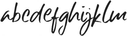 Six Away-The Handmade Brush Fon otf (400) Font LOWERCASE