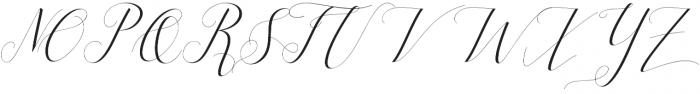 silicia script Regular otf (400) Font UPPERCASE