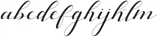 silicia script Regular otf (400) Font LOWERCASE
