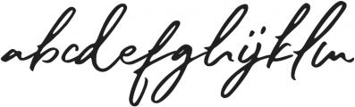 sister slimes font otf (400) Font LOWERCASE