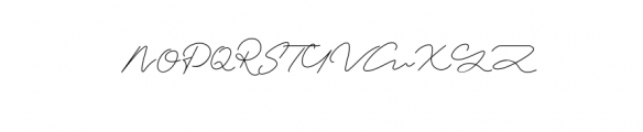 Signature Collection Font UPPERCASE
