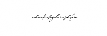 Signature Collection Font LOWERCASE