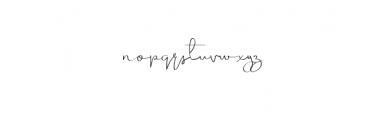 SimpleHarmony.otf Font LOWERCASE