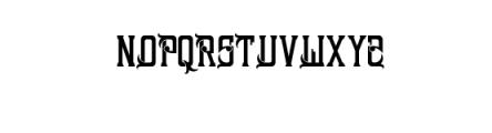 Sinara Font Font UPPERCASE
