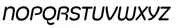 Silicone Book Italic Font UPPERCASE