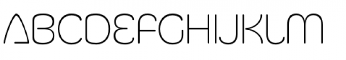 Silicone ExtraLight Font LOWERCASE