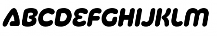 Silicone Heavy Italic Font LOWERCASE