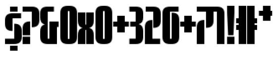 Sinclair Biform Font OTHER CHARS
