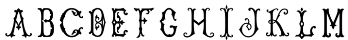Single Antique Chic Regular Font LOWERCASE