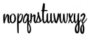 Singlesville Script Font LOWERCASE
