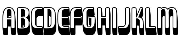 Sirena Shadow Font UPPERCASE