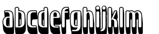 Sirena Shadow Font LOWERCASE