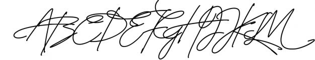 Signature TypeFace 1 Font UPPERCASE