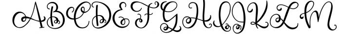 Silky Smooth Font Bundle 4 Font UPPERCASE