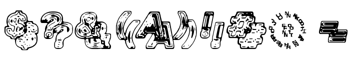 Siamese Twins Font OTHER CHARS