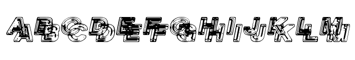 Siamese Twins Font UPPERCASE