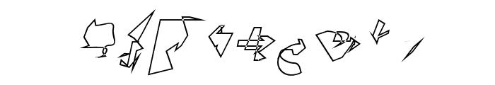 Siberia Outline Oblique Font OTHER CHARS