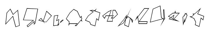 Siberia Outline Oblique Font UPPERCASE