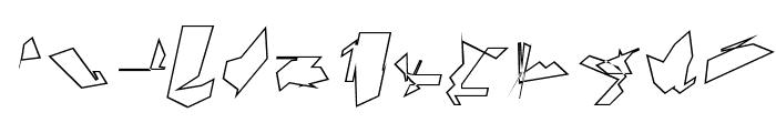 Siberia Outline Oblique Font LOWERCASE