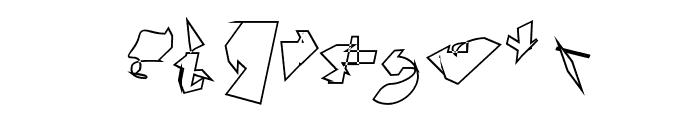 Siberia Reversed Outline Oblique Font OTHER CHARS