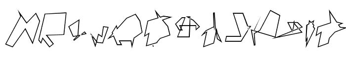 Siberia Reversed Outline Oblique Font UPPERCASE