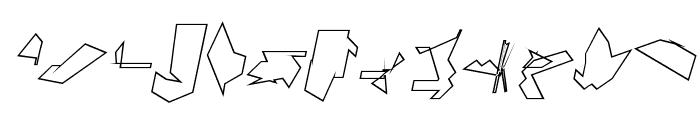 Siberia Reversed Outline Oblique Font LOWERCASE