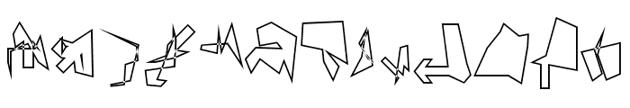 Siberia Reversed Outline Font UPPERCASE