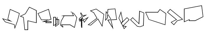 Siberia Reversed Outline Font LOWERCASE