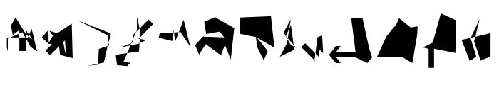 Siberia Reversed Font UPPERCASE
