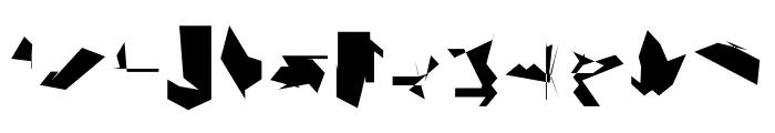 Siberia Reversed Font LOWERCASE