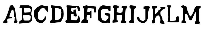 Sick-Postman Font UPPERCASE