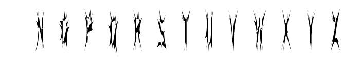 SidTheSpider Font UPPERCASE