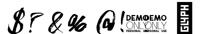 Sidney Demo Rough Font OTHER CHARS