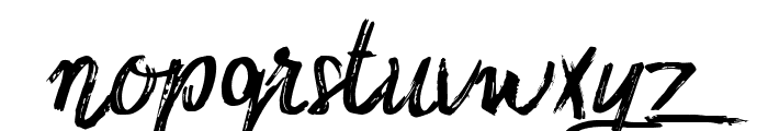 Sidney Demo Rough Font LOWERCASE