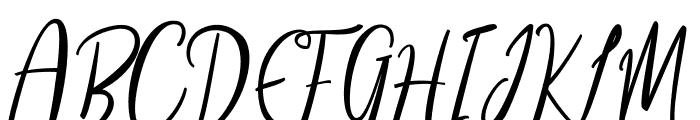 Siesta Font UPPERCASE
