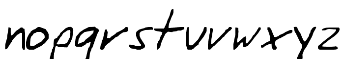 SiggiHand Font LOWERCASE