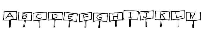 Sign Language Regular Font UPPERCASE