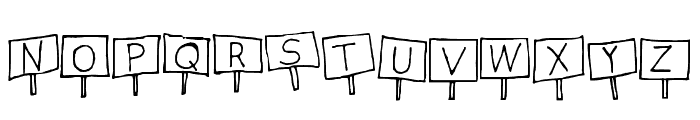 Sign Language Regular Font LOWERCASE