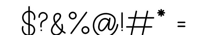Sign Of Love Font OTHER CHARS