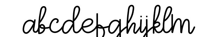 Sign Of Love Font LOWERCASE