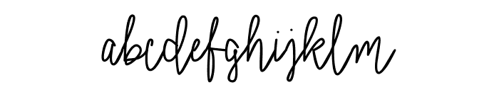 Signatural Font LOWERCASE