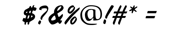 Signature Regular Font OTHER CHARS