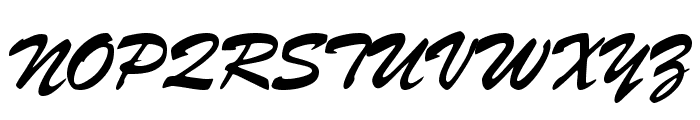 Signature Regular Font UPPERCASE