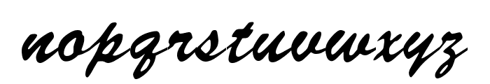 Signature Regular Font LOWERCASE