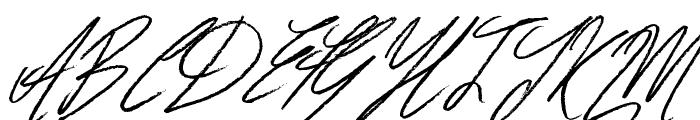 Signatures Font UPPERCASE